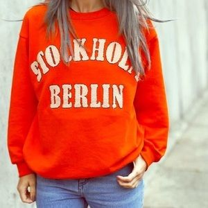 Oversized Embroidered Pullover Sweatshirt